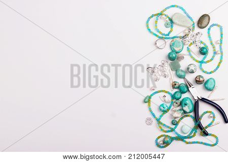 Top View Turquoise Beads