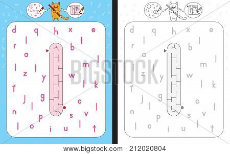 Maze Letter L