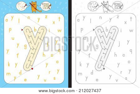 Maze Letter Y