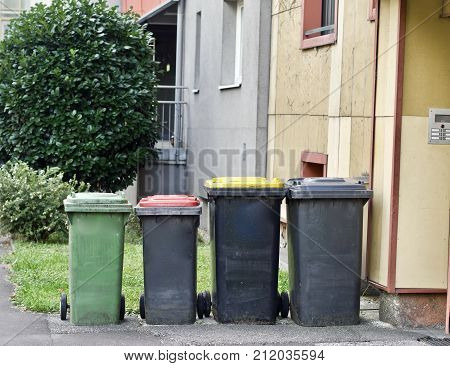 waste - waste separation, recycling, flats, residential area
