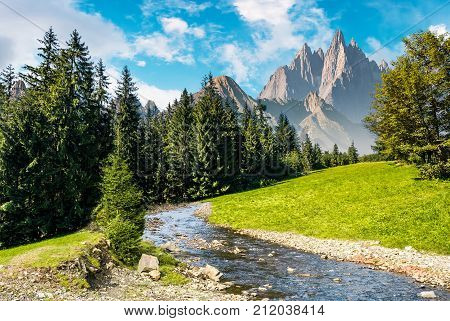 Fairy Tale Mountainous Summer Landscape