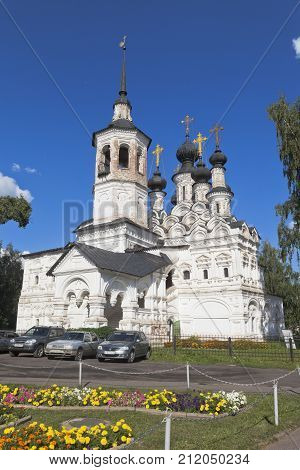 Veliky Ustyug, Vologda region, Russia - August 11, 2016: Temple of the Ascension of the Lord for sale in Veliky Ustyug, Vologda region