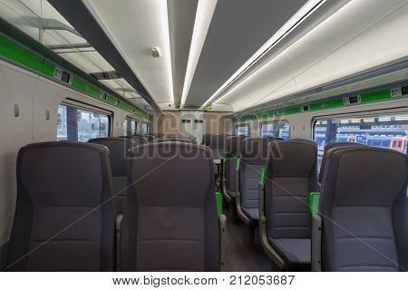 Reading, UK. 3rd November 2017. The interior of a brand new Class 800 Great Western Railway Inter-City express train which is in the station at Reading. Services commenced on October 16th 2017.