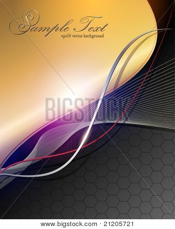 Abstract business background elegant gold black, vector.