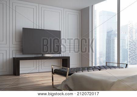 White Living Room, Tv Set Side View