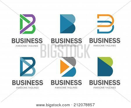 creative B letter concept Vector logo template, abstract business letter B icon