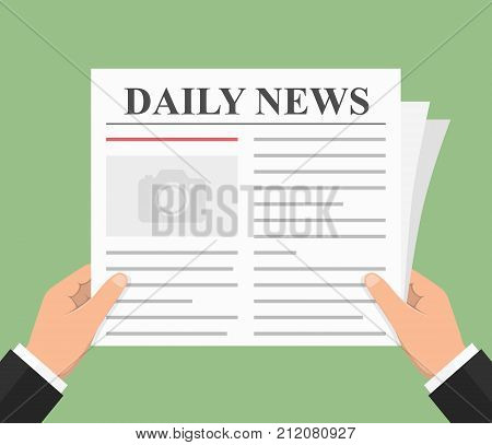 Abstract newspaper, daily news, flat style, vector eps10 illustration