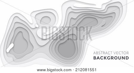 3D Papercut Layers, Paper Cut Vector Art Background Banner Texture Website Template