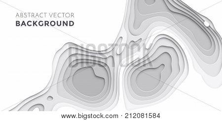 3D Papercut Layers, Paper Cut Vector Art Background Banner Texture Website Template