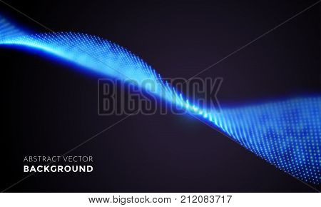 Neon Led Light 3D Wave Glowing Flow Twisted Motion Vector Technology Background