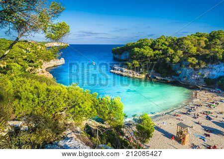 Amazing beach of Cala Llombards Majorca island Spain