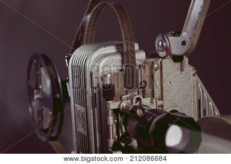 Close-up Of An Old Film Projector.