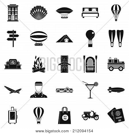 Time to move icons set. Simple set of 25 time to move vector icons for web isolated on white background