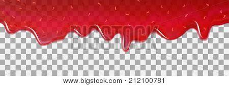 Strawberry Background Jam Vector Dripping Drop Splash Texture