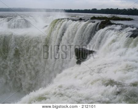 Argentinean Side Of The Iguazu Falls Waterfalls