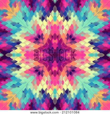Seamless background pattern. Geometric abstract pattern of arc elements in low poly style..