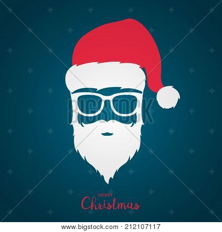Avatar Santa Claus in white glasses. Merry Christmas and happy new year.