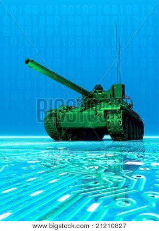Virtual Tank attacking Computer Data
