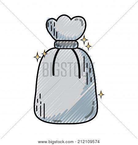 grated garbage bag object with biodegradable trash vector illustration