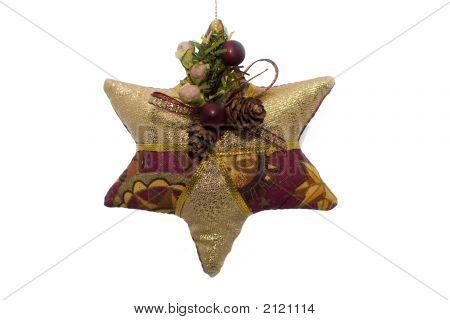 Christmas Star On White Background