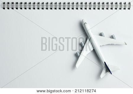 Model Airplane On Spiral Binding Notepad
