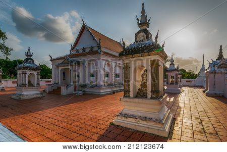Temple of Kutao Songkhla Province Thailand. February 11 2017: The beauty of the KoTao temple and When the ancient temple pavilion KuTao Mae Tom Bang Klang Songkhla was awarded the 2011 Asia-Pacific Cultural Heritage Conservation Award by the United Nation