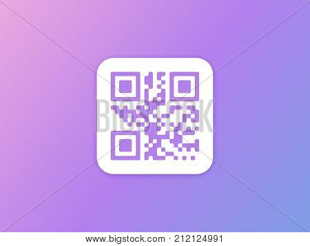 QR code icon. QR code Vector illustration