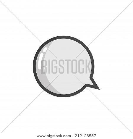 grayscale chat bubbles to notes message information vector illustration