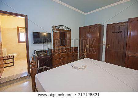 Interior Design Of En-suite Bedroom In House