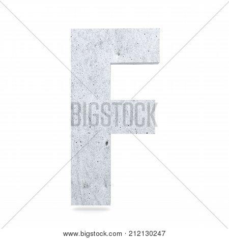 3D Decorative Concrete Alphabet, Capital Letter F