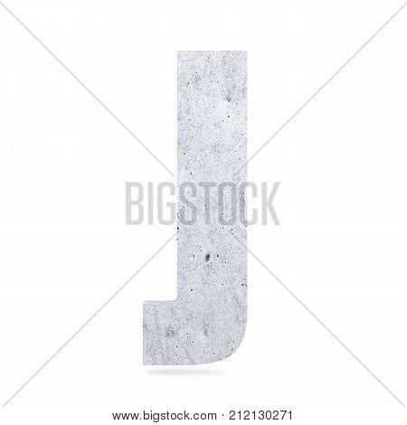 3D Decorative Concrete Alphabet, Capital Letter J