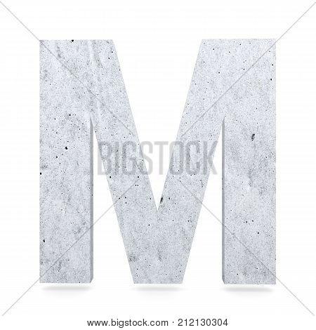 3D Decorative Concrete Alphabet, Capital Letter M