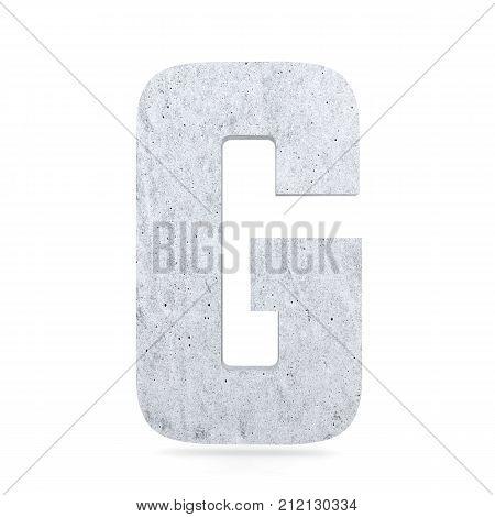 3D Decorative Concrete Alphabet, Capital Letter G