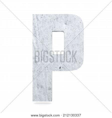 3D Decorative Concrete Alphabet, Capital Letter P
