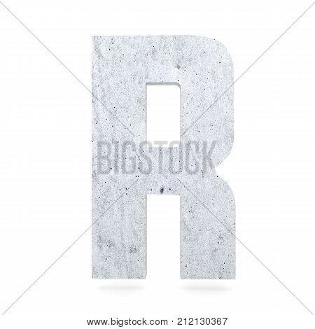 3D Decorative Concrete Alphabet, Capital Letter R