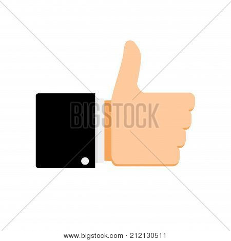 Like symbol thumb up. Like button thumbs up vector like icon for social network best like illustration