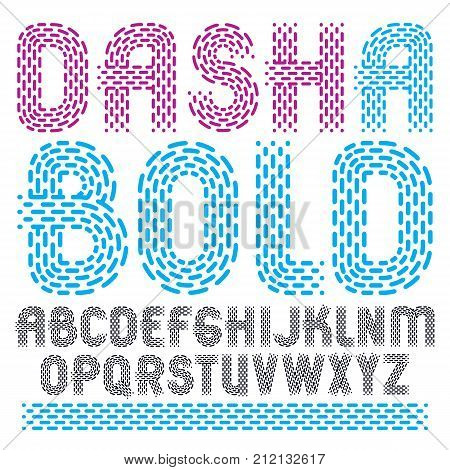 Set Of Trendy Vector Capital English Alphabet Letters Isolated. Rounded Bold Retro Type Font, Script