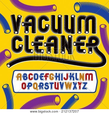 Vector Trendy Modern Capital, Uppercase Alphabet Letters Collection. Unlike Type Font, Script From A