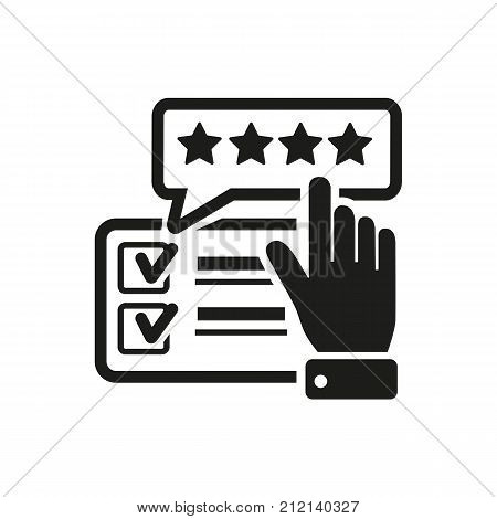 Feedback on Internet. Opinion, comment, feedback. Blogging concept. Can be used for topics like media, rating, review