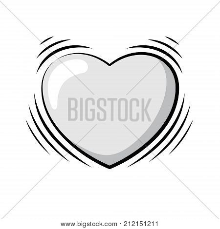 Beating Heart. Vector Illustration Of A Cartoon Heart With Shaking Effect