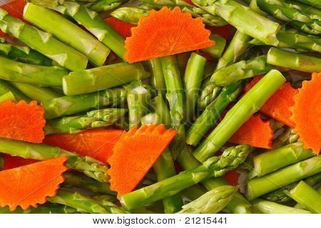 asparagus and carrot