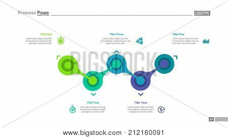 Process chart five elements flow vector photo bigstock process chart with five elements flow diagram graph layout creative concept for ccuart Image collections