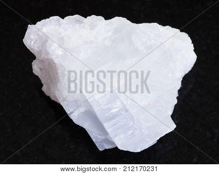 Rough Crystalline Magnesite Stone On Dark