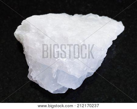 Raw Crystalline Magnesite Stone On Dark