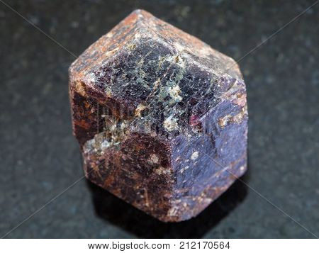 Rough Crystal Of Dravite Tourmaline Stone On Dark