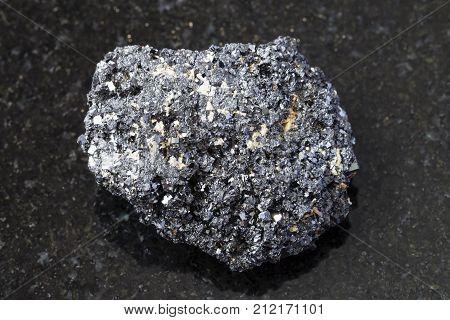 Crystalline Perovskite Stone On Dark Background