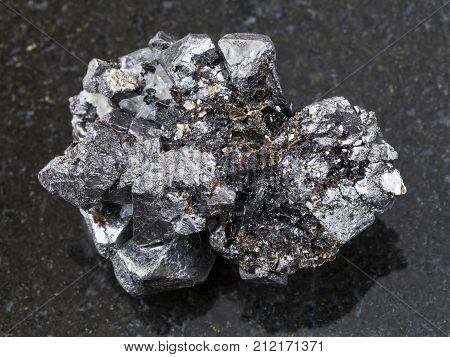 Rough Crystalline Magnetite Stone On Dark