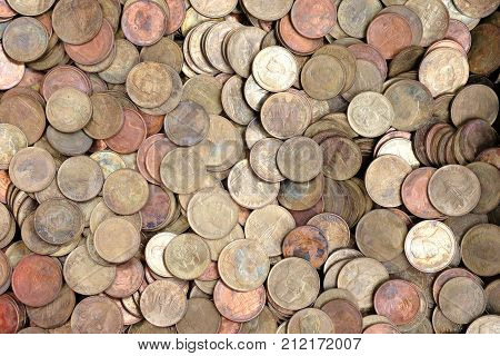 Coins of Thailand for background. Coins Dimes