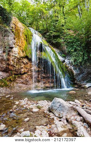 Djur-djur Waterfall On Ulu-uzen River In Autumn