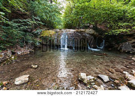 Little Waterfall On Ulu-uzen River In Haphal Gorge